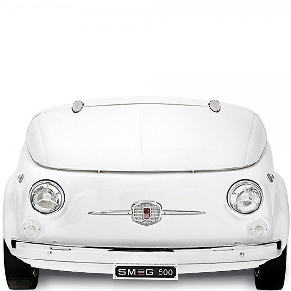 Smeg SMEG500B Kühlvitrine-Minibar im FIAT 500 Weiss 50's Retro Style