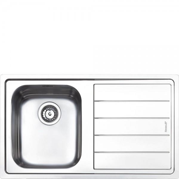 Smeg LFB861 Einbau-Spüle Edelstahl 87 cm günstig online kaufen