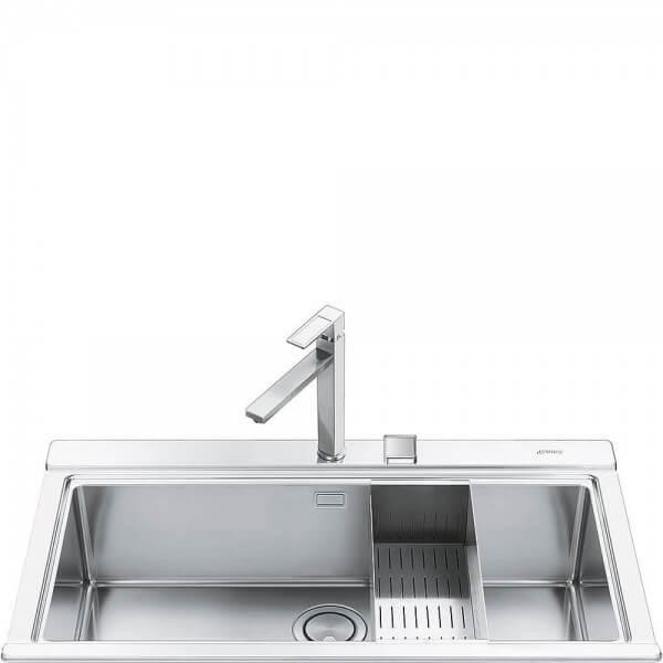 Smeg VR78 Einbau-Spüle Edelstahl 78 cm