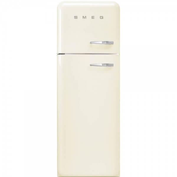 Smeg FAB30LP1 Standkühlschrank mit Gefrierraum Creme Linksanschlag