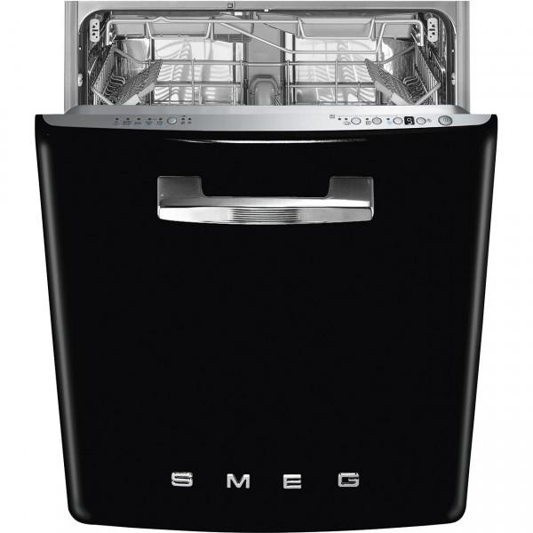 Smeg STFABBL3 Einbau Geschirrspüler Schwarz 50's Style
