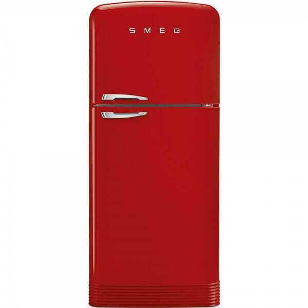Smeg FAB50RRD Stand-Kühl-/Gefrierkombination Rot 50's Retro Style