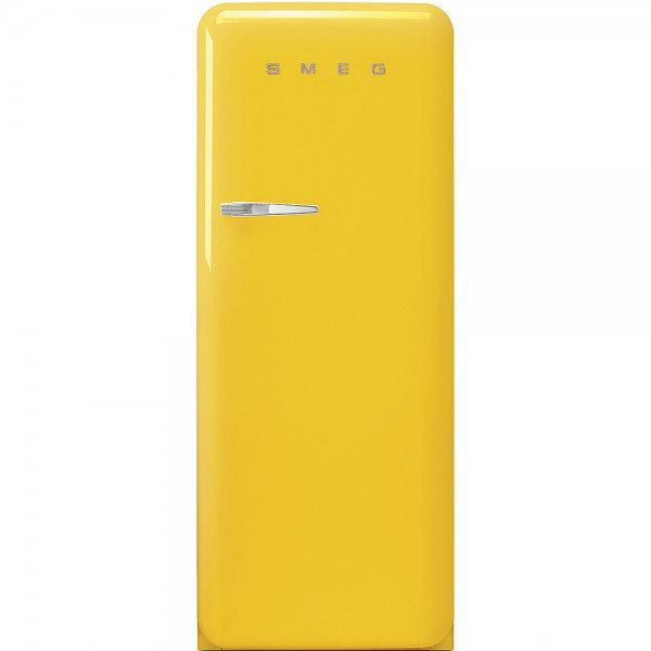 Smeg FAB28RYW5 Standkühlschrank mit Gefrierfach Gelb Rechtsanschlag
