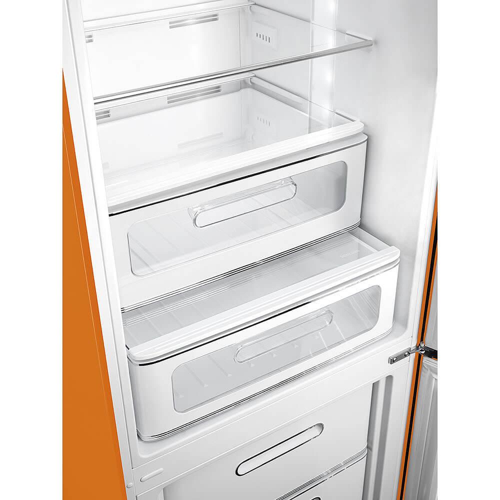 smeg fab32ror3 stand k hl gefrierkombination orange 50 39 s. Black Bedroom Furniture Sets. Home Design Ideas