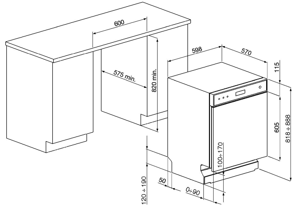 smeg lsp4323xde unterbau geschirrsp ler edelstahfront 60. Black Bedroom Furniture Sets. Home Design Ideas