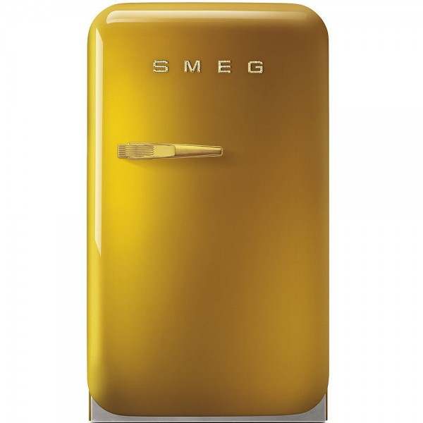 Smeg FAB5RGO Minibar Gold Design/Swarowski Elements 50's Retro Style