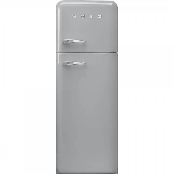 Smeg FAB30RSV5 Stand-Kühl-/Gefrierkombination Polarsilber 50's Retro Style Rechtsanschlag