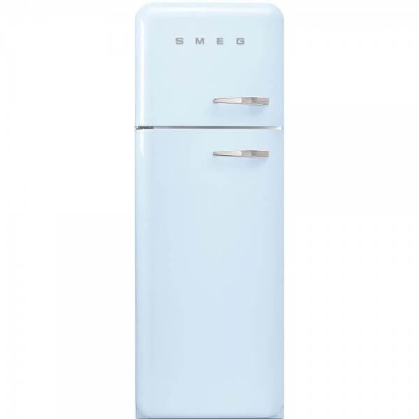 Smeg FAB30LAZ1 Standkühlschrank mit Gefrierraum Pastellblau Linksanschlag