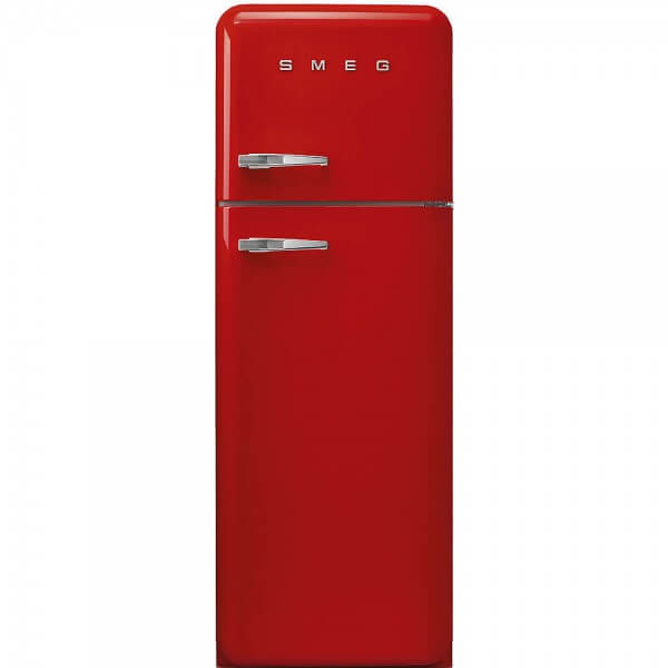 Smeg FAB30RR1 Standkühlschrank mit Gefrierraum Rot Rechtsanschlag