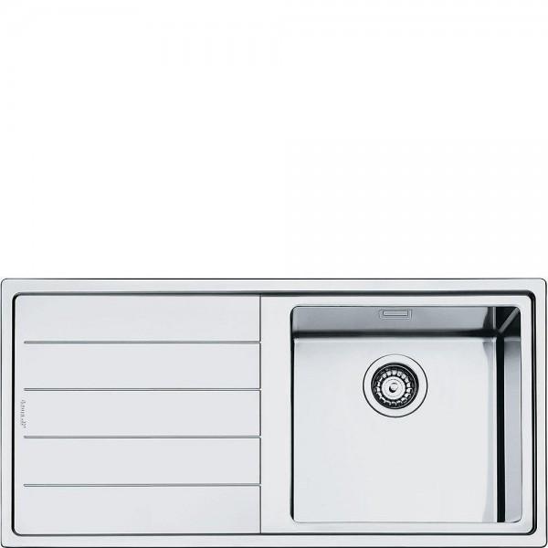 Smeg LFT100S Einbau-Spüle Edelstahl 100 cm