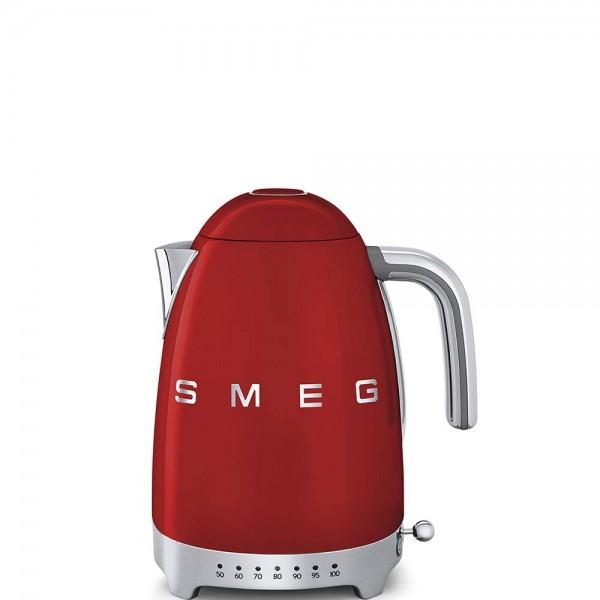 Smeg KLF04RDEU Wasserkocher mit variablen Temperaturen Rot