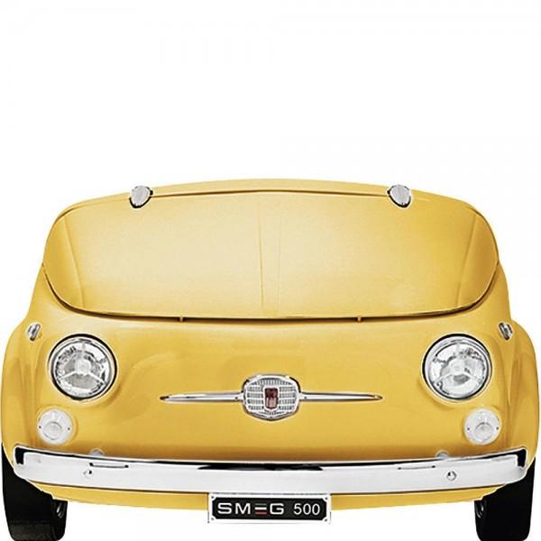 Smeg SMEG500G Kühlvitrine-Minibar im FIAT 500 Gelb 50's Retro Style