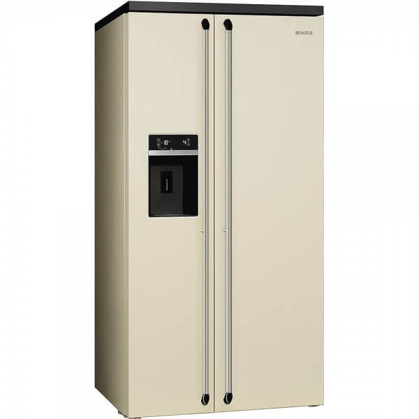 Smeg SBS963P Side-by-Side Kühl-/Gefrierkombination Creme 91 cm