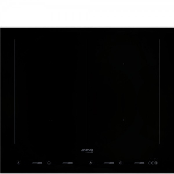 Smeg SIM662WLDX Einbau-Induktionskochfeld Edelstahl 60 cm Dolce Stil Novo