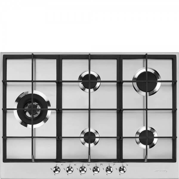 Smeg PX375LDE Einbau-Gaskochfeld Edelstahl 73 cm Classici