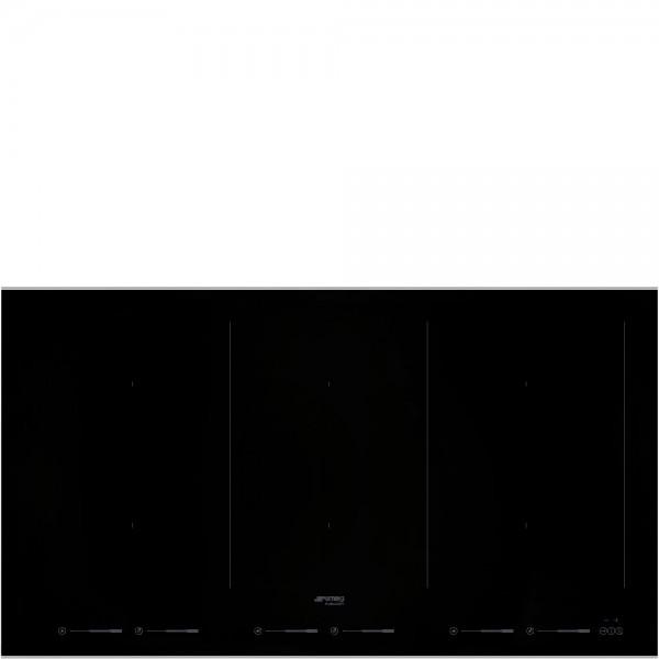 Smeg SIM693WLDX Einbau-Induktionskochfeld Schwarz 90 cm Dolce Stil Novo