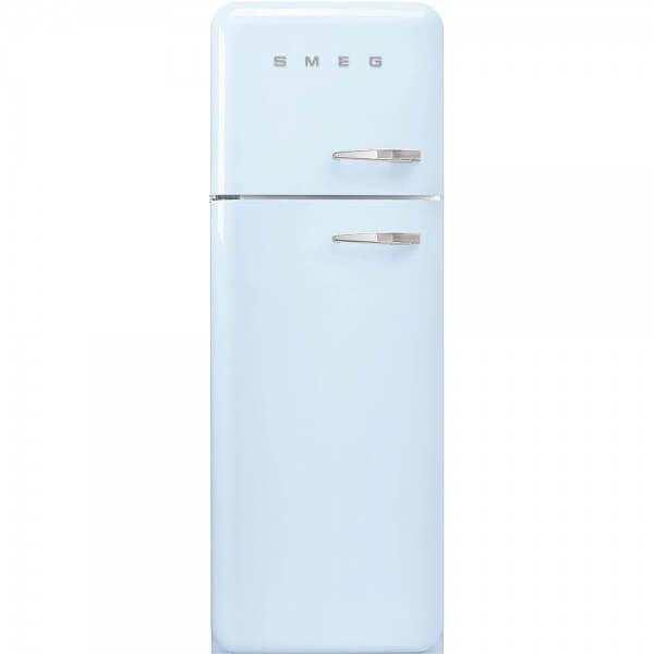 Smeg FAB30LPB5 Stand-Kühl-/Gefrierkombination Pastellblau 50's Retro Style Linksanschlag